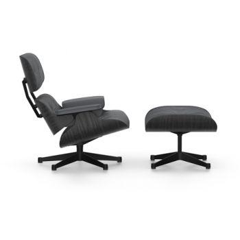 Lounge Chair mit Ottoman Esche schwarz