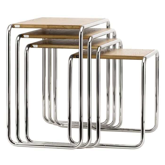 Thonet b 9 set pure materials selig wohndesign for Set beistelltische