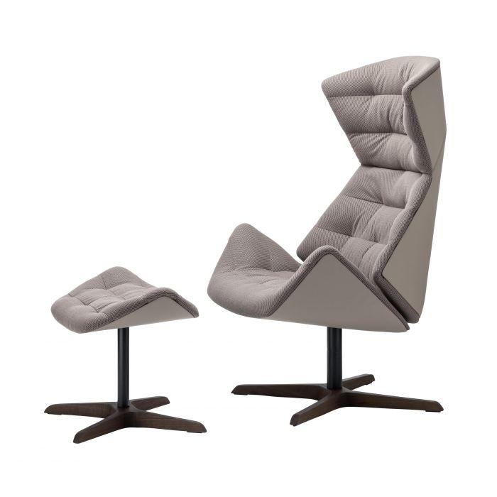 thonet 808 sessel mit ottoman selig wohndesign. Black Bedroom Furniture Sets. Home Design Ideas